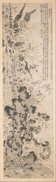 Xu Wei Painting - sixteen flowers old China ink