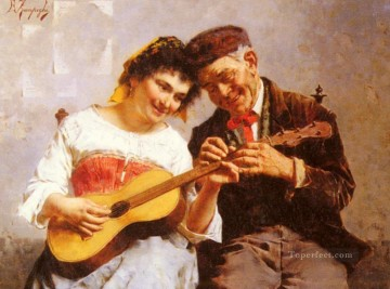 Eduardo A Private Concert country Eugenio Zampighi Decor Art