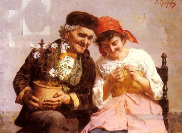Love Painting - Eduardo He Loves Me He Loves Me Not country Eugenio Zampighi