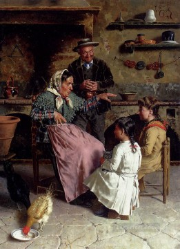 Country Painting - A Captive Audience country Eugenio Zampighi