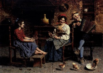 A Happy Tune country Eugenio Zampighi Oil Paintings