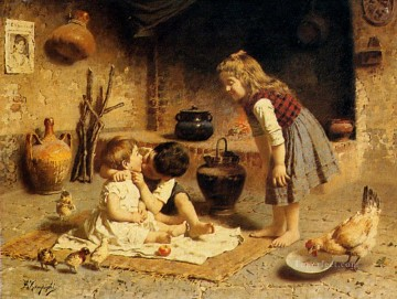 Affection country Eugenio Zampighi Oil Paintings
