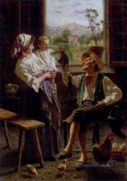 Edouardo A New Friend country Eugenio Zampighi Oil Paintings