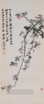 chang dai chien Painting - Chang dai chien crabapple blossoms 1965 old China ink