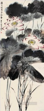 chang dai chien Painting - Chang dai chien lotus 9 old China ink