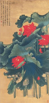 chang dai chien Painting - Chang dai chien lotus 17 old China ink