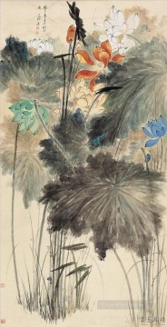 chang dai chien Painting - Chang dai chien lotus 24 old China ink