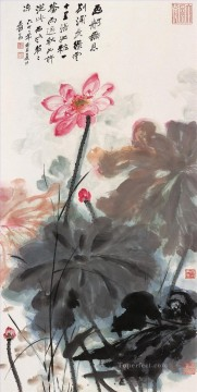 chang dai chien Painting - Chang dai chien lotus 25 old China ink