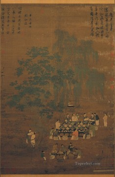 Zhao Ji Song Huizong Painting - an elegant party 1100 old China ink