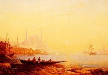 Ziem Art Painting - Constantinople boat Barbizon Felix Ziem