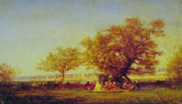Ziem Art Painting - On the Banks of the Bosphorus Barbizon Felix Ziem