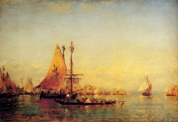 Ziem Art Painting - The Grand Canal Venice 1 boat Barbizon Felix Ziem
