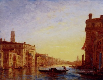 Ziem Art Painting - The Grand Canal boat Barbizon Felix Ziem