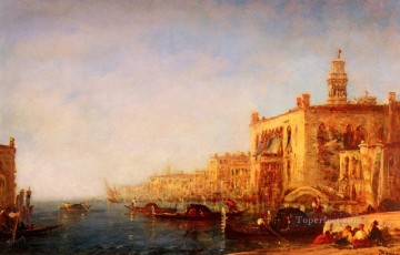 Ziem Art Painting - Venise Le Grand Canal boat Barbizon Felix Ziem