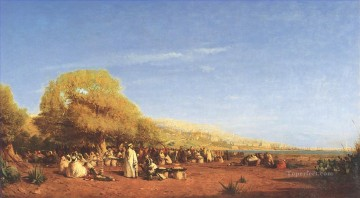 Ziem Art Painting - The Market Barbizon Felix Ziem