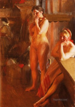 Eldsken foremost Sweden Anders Zorn Oil Paintings