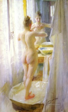 Le Tub foremost Sweden Anders Zorn Oil Paintings