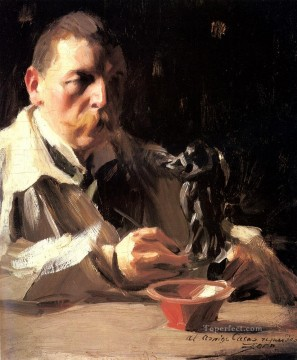 Leonard Self Portrait With Faun And Nymph Anders Zorn Oil Paintings