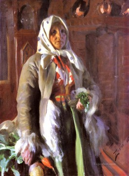 mona lisa Painting - Mona foremost Sweden Anders Zorn