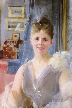 London Art - Portrait Of Edith Palgrave Edward In Her London Residence Anders Zorn
