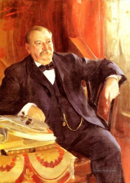 President Grover Cleveland foremost Sweden Anders Zorn Oil Paintings