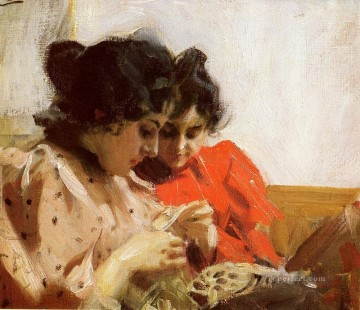 pets Painting - Spetssom foremost Sweden Anders Zorn