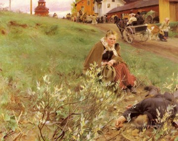 Mora Marknad foremost Sweden Anders Zorn Oil Paintings