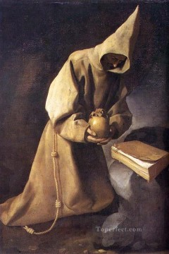 Francisco Art Painting - Meditation of St Francis Baroque Francisco Zurbaron
