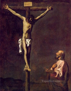 Saint Art - Saint Luke as a Painter before Christ on the Cross Baroque Francisco Zurbaron