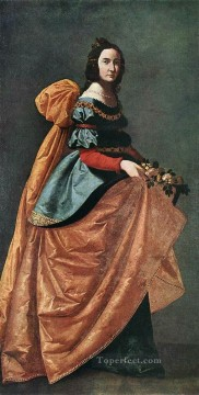 baroque - St Casilda of Burgos Baroque Francisco Zurbaron