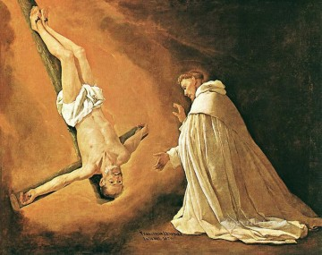 Francisco Art Painting - The Apparition of Apostle St Peter to St Peter of Nolasco Baroque Francisco Zurbaron