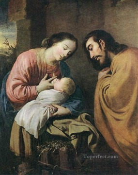 Rest Painting - Rest on the Flight to Egypt Baroque Francisco Zurbaron