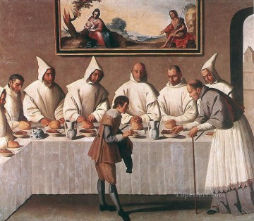 Francisco Art Painting - St Hugo of Grenoble in the Carthusian Refectory Baroque Francisco Zurbaron