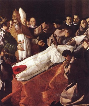 baroque Painting - The Lying in State of St Bonaventura Baroque Francisco Zurbaron