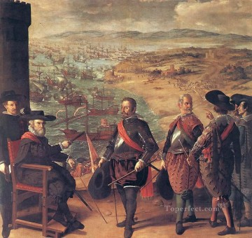 baroque Painting - Defence of Cadiz against the English Baroque Francisco Zurbaron