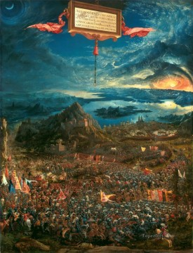 Albrecht Altdorfer The Battle of Alexander at Issus Oil Paintings