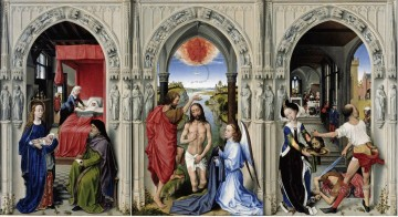100 Great Art Painting - Rogier van der Weyden Saint Johns Altarpiece