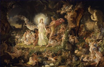 100 Great Art Painting - Sir Joseph Noel Paton The Quarrel of Oberon and Titania