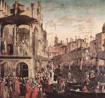 100 Great Art Painting - Vittore Carpaccio Miracle of the Relic of the Cross at the Ponte di Rialto