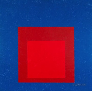 100 Great Art Painting - Homage to the Square Against Deep Blue
