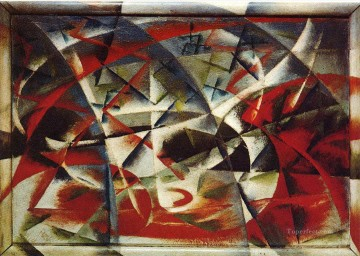 Giacomo Balla Abstract Speed + Sound Oil Paintings