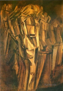 100 Great Art Painting - Marcel Duchamp Sad Young Man in a Train