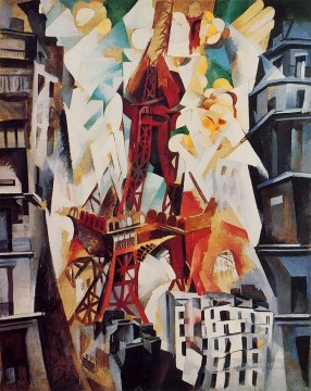 100 Great Art Painting - Robert Delaunay Eiffel Tower Champs de Mars