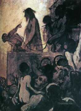 100 Great Art Painting - Honore Daumier Ecce Homo