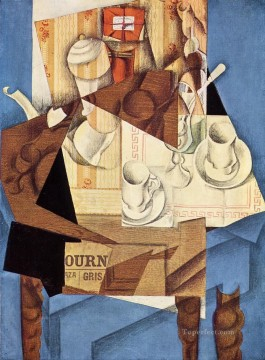 Gris Oil Painting - Juan Gris The Breakfast Table