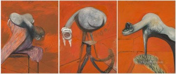Three Studies for Figures at the Base of a Crucifixion Oil Paintings