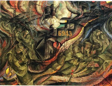 100 Great Art Painting - Umberto Boccioni The Farewells