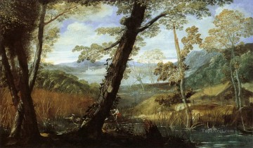 100 Great Art Painting - Annibale Carracci River Landscape