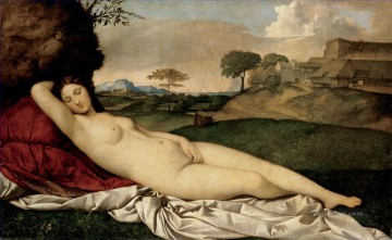 sleep Painting - Giorgione Sleeping Venus