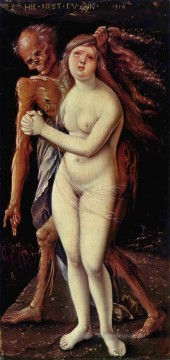 100 Great Art Painting - Hans Baldung Grien Death and the Maiden